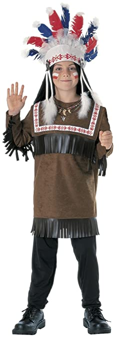 Rubies Cherokee Warrior Child Costume, Medium
