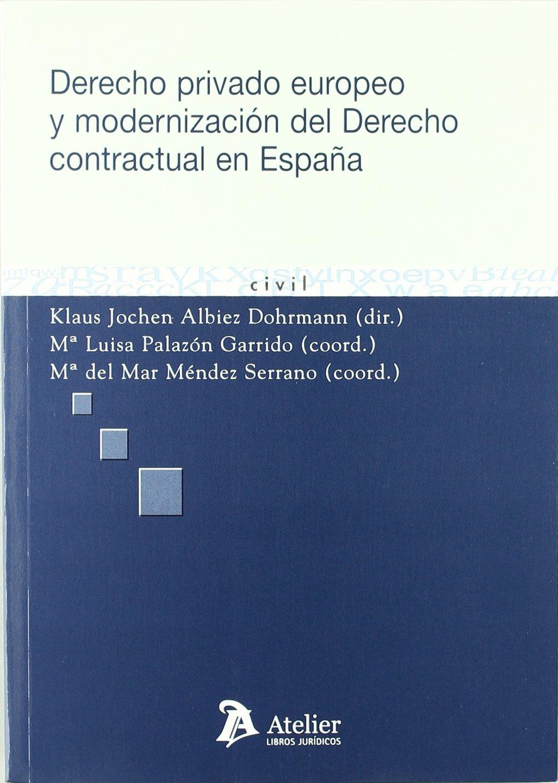 Derecho privado europeo y modernización del derecho contractual en ...