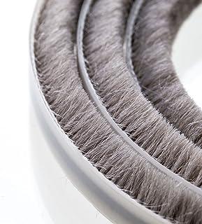 Steigner Guarnizione a spazzola, 50m - Colore grigio- Autoadesiva-Altezza 8mm
