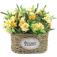 Cesta de flores de seda artificial, arreglos florales