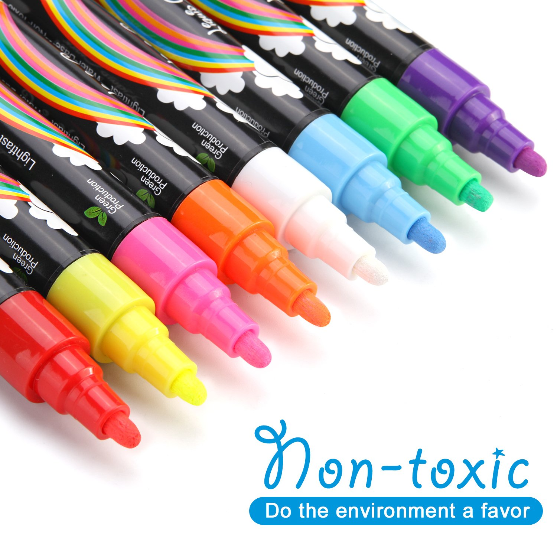 AGPtek Fluorescent Marker Pen 8 Colors//set for LED Writing Menu Board