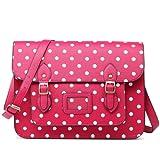 Miss Lulu Brand Vintage Designer Polka Dot Faux Leather Work Briefcase Satchel Bag School Bag