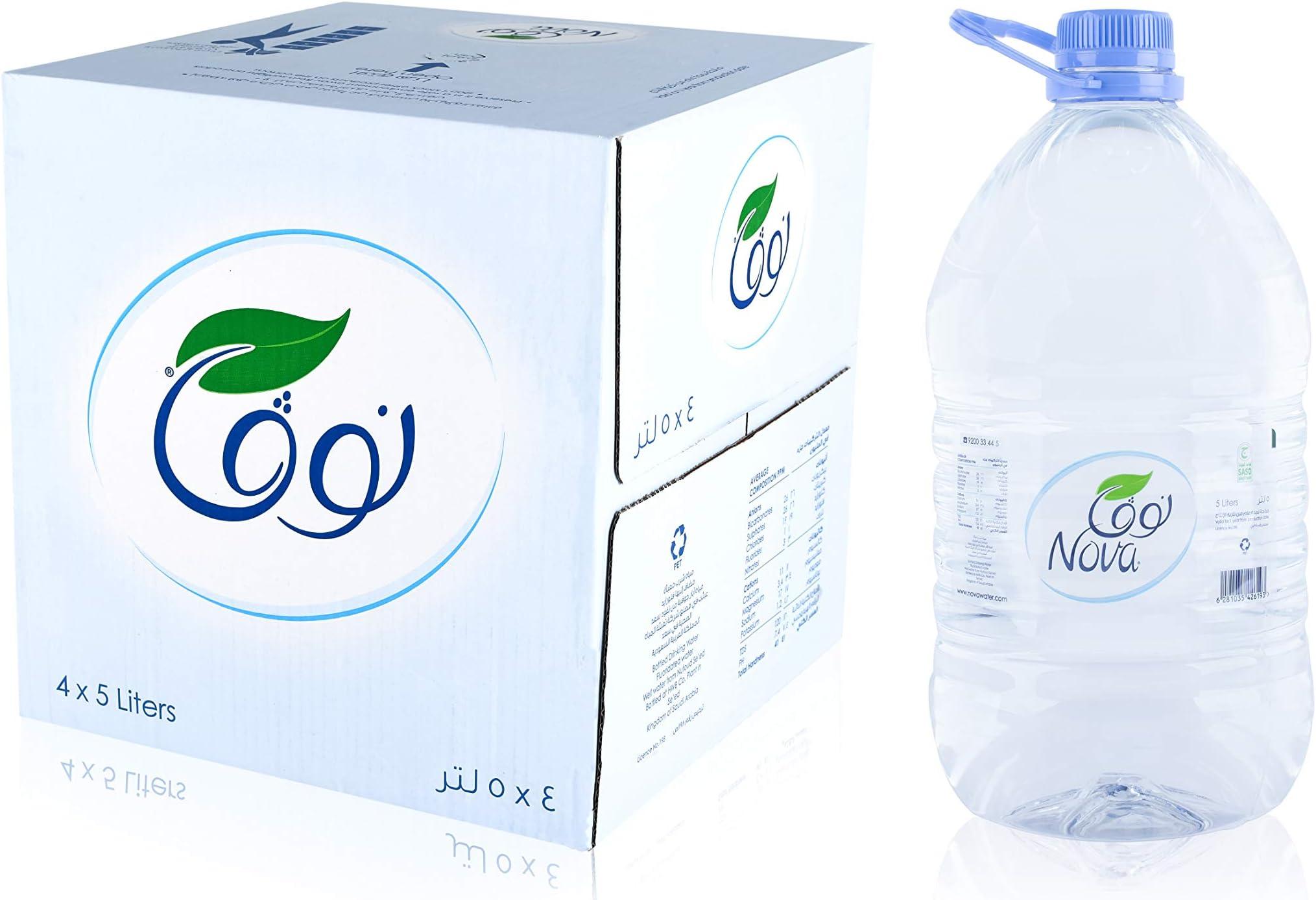 سعر نوفا مياه معدنية معبأة 4 5 لتر فى السعودية بواسطة امازون السعودية كان بكام