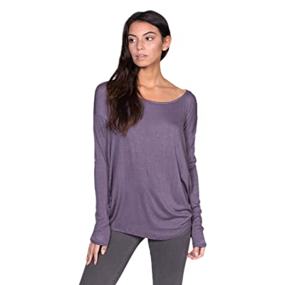 A+D Womens Thin Knit Dolman Sleeve Top W/Round Hem at Women's Clothing store
