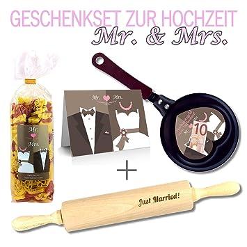 Geschenkset Zur Hochzeit 4 Teilig Hochzeitsgeld Zum Verbraten Mr