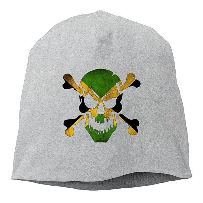 c1afb73262492 TBBCO Jamaica Skull Flag by Rebel-Angel Beanie Hats Knit Skull Caps Winter  Beanies For Men WomenAsh at Amazon Men s Clothing store