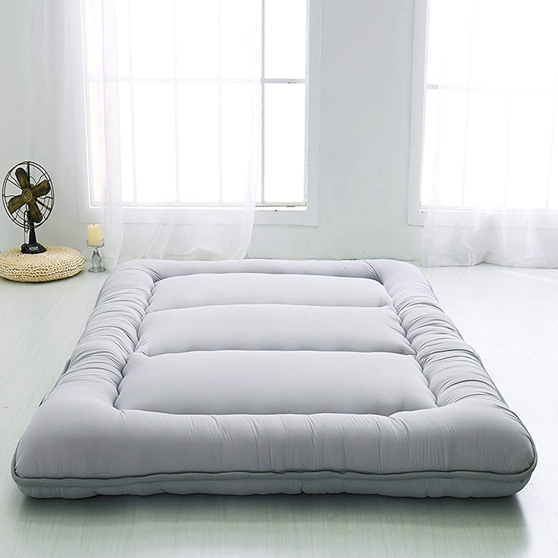 Goldyqin Sleeping Tatami Floor Mat,Breathable Futon Tatami Mattress Pad Soft Thick Japanese for Student Dormitory Mattress