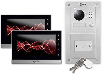 Sistema de videoportero automático IP, 2x estación interior de 17 ...