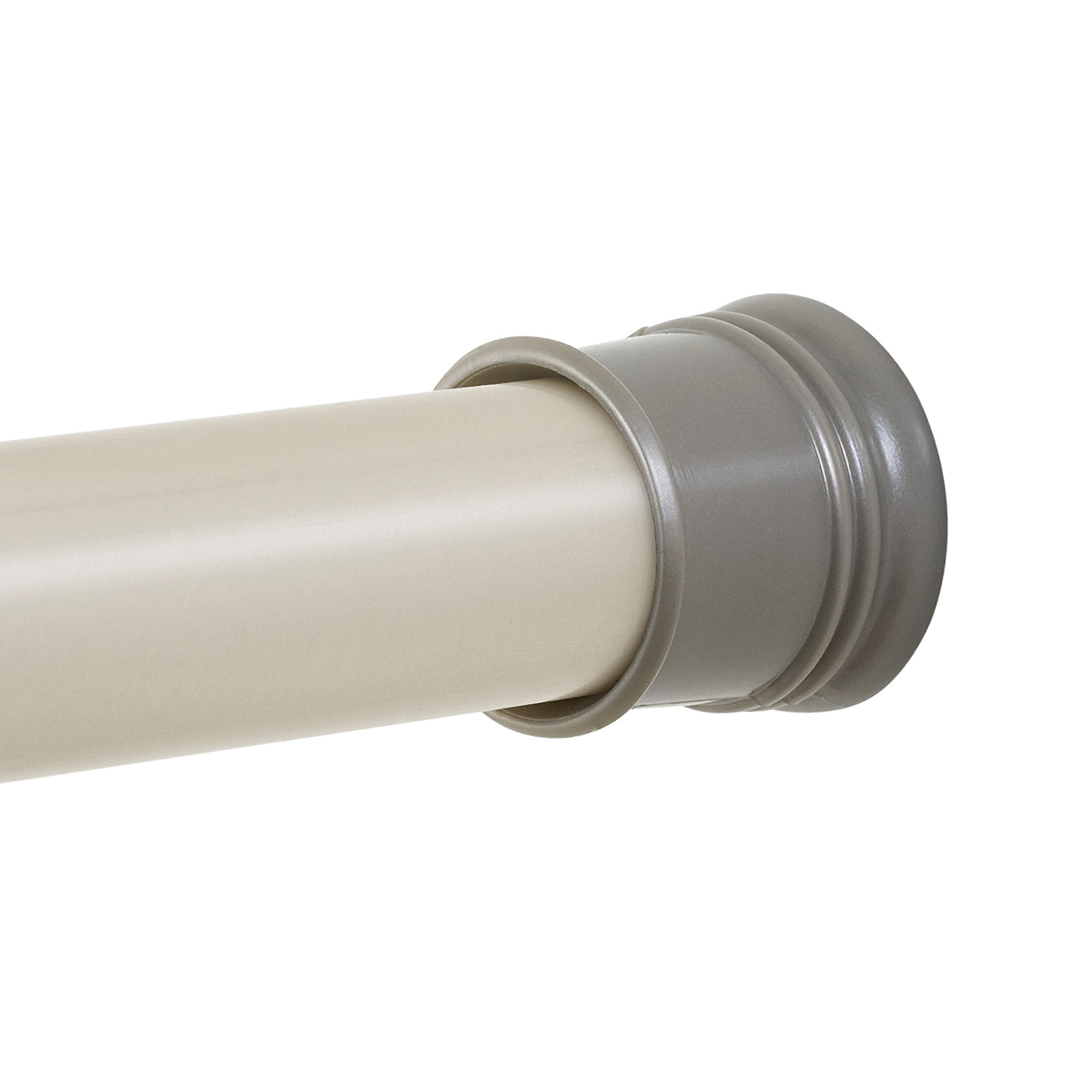 Zenna Home 505ST, Tension Shower Curtain Rod, 44 to 72-Inch, Brushed Nickel