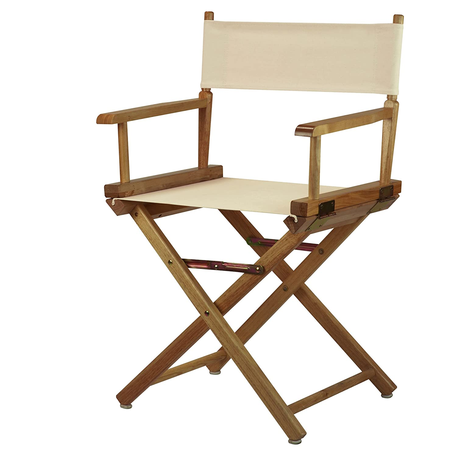 Natural Wheat 18-Inch Casual Home 30-Inch Director Chair Natural Frame, Black Canvas