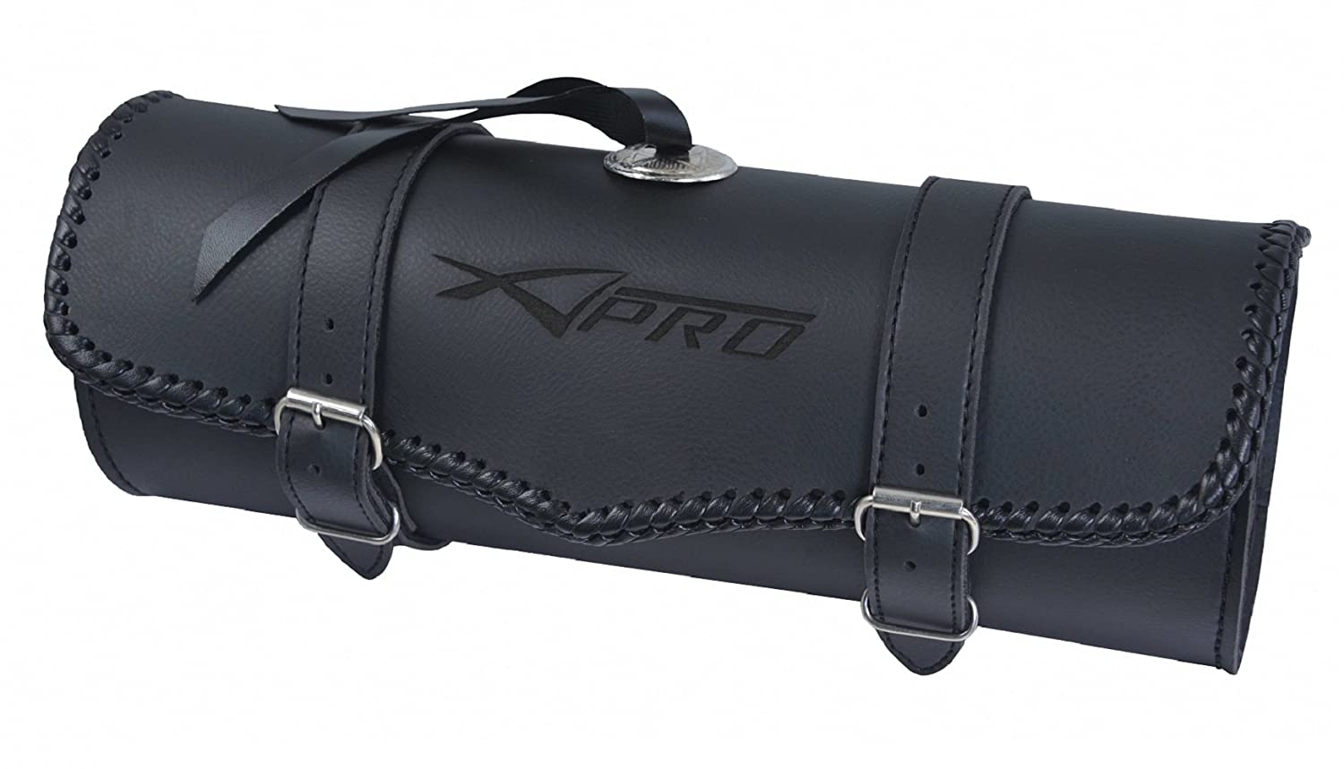 A-Pro Fait Main Genuine Customized Saddle Bag Moto Motorbike Deluxe Tool Roll 5180000034771