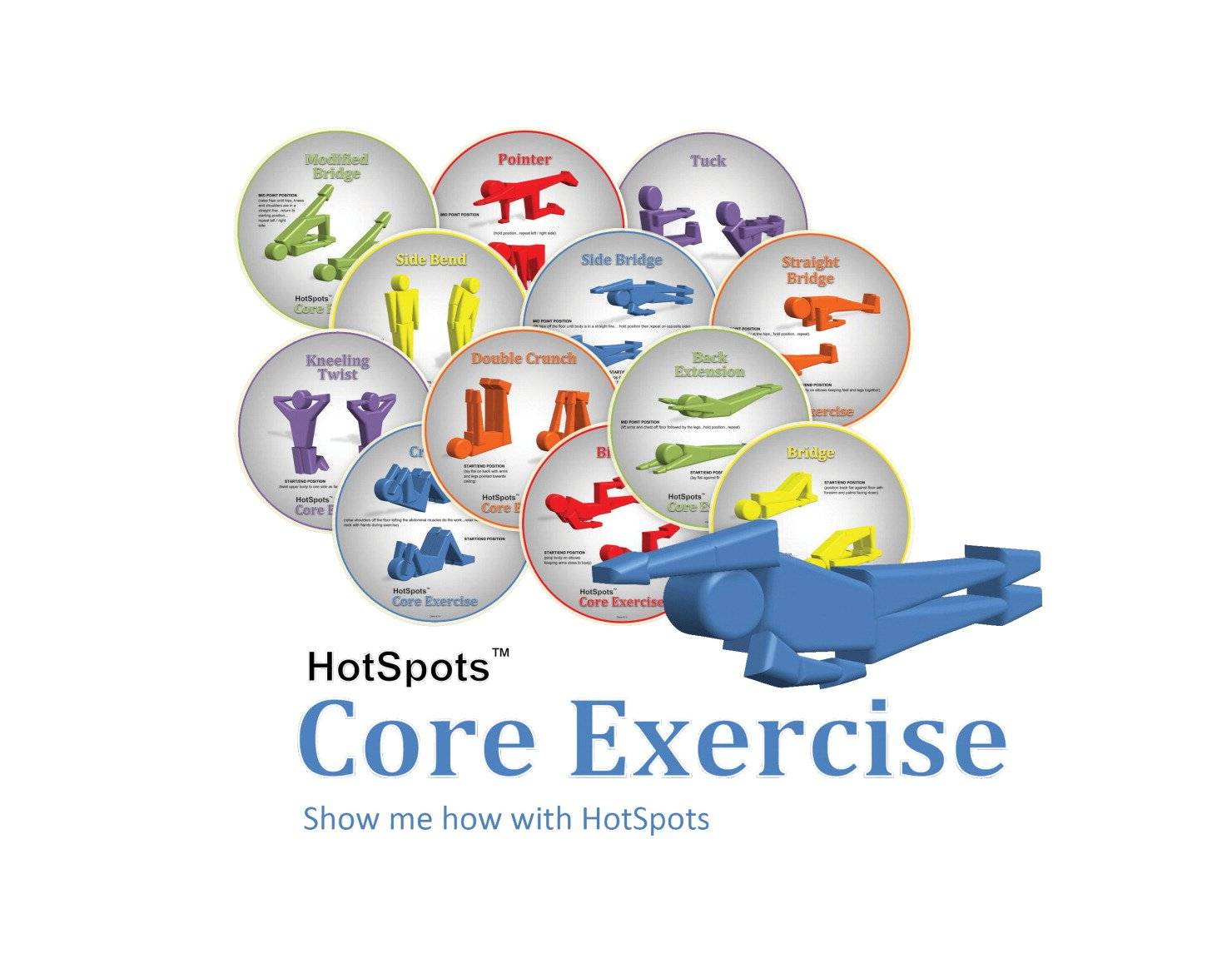 HotSpots 8-1/2 in Core Exercise Spots, Set of 12