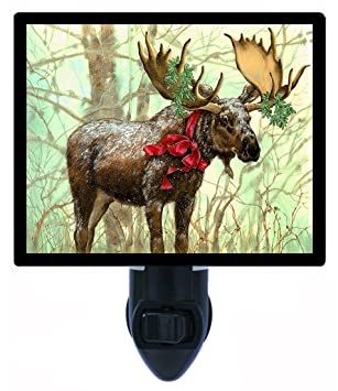 christmas night light christmas moose decorations - Christmas Moose Decorations