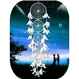 Grande acchiappasogni, a mano moderno bianco matrimonio Outdoor ornamento per festa di Natale di Ieve, Color 3, 100-105CM