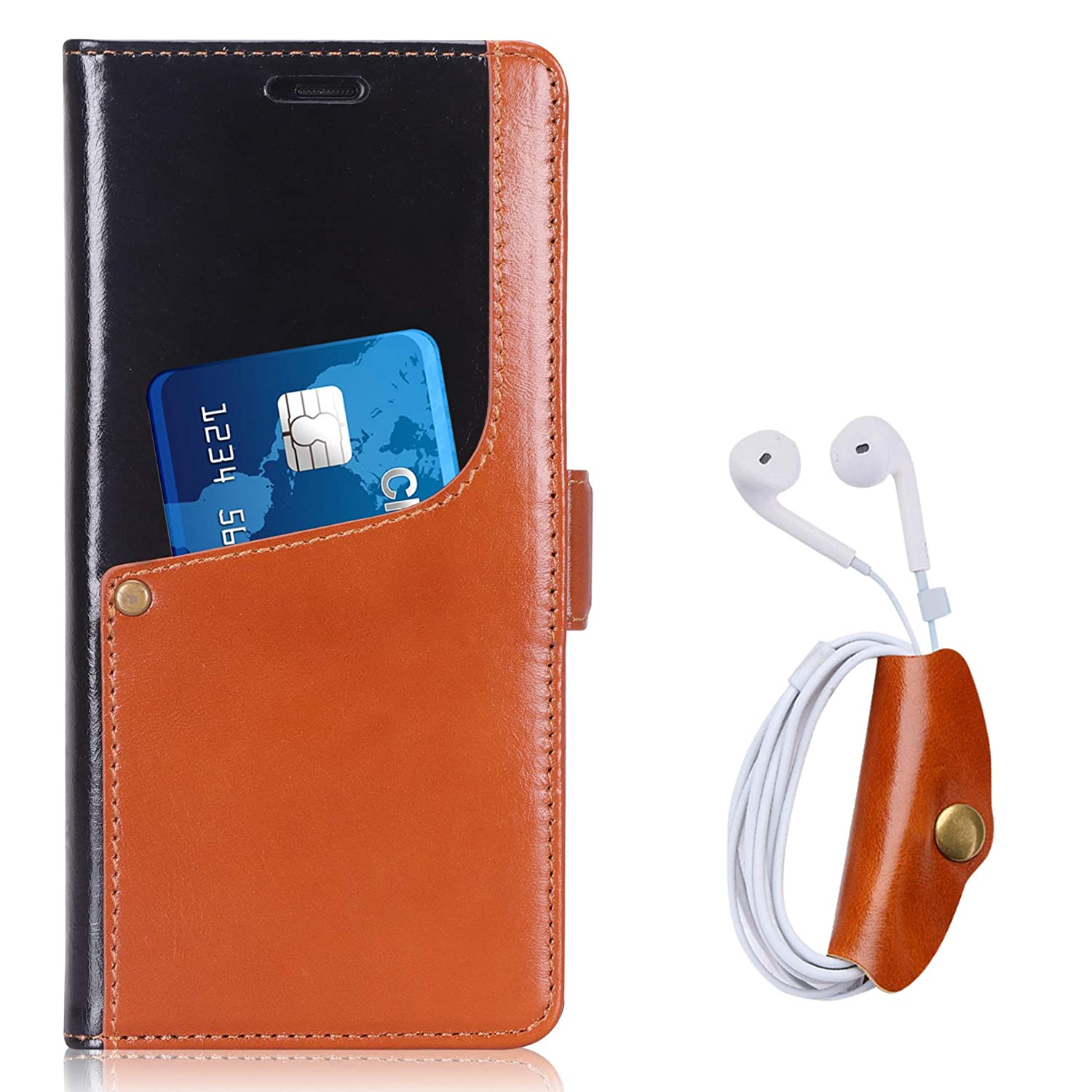 Toplive Note 9 Case, Luxurious Genuine Cowhide Leather Wallet Case with Earbud Holder for Samsung Galaxy Note 9 2018, Brown Guangzhou Zhao Qian Sun Li Intel-tech. Co. Ltd.