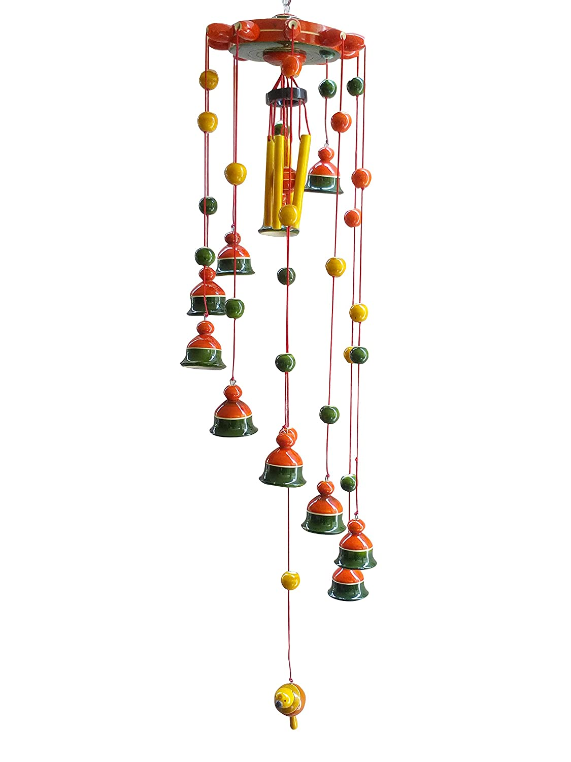 IndiHandicrafts Beautiful Vintage Hand Carved Wooden Bell Chimes ...