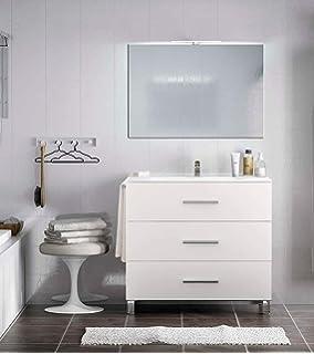 Ducha.es Conjunto 2 Piezas INDUS-Mueble de baño y encimera ...