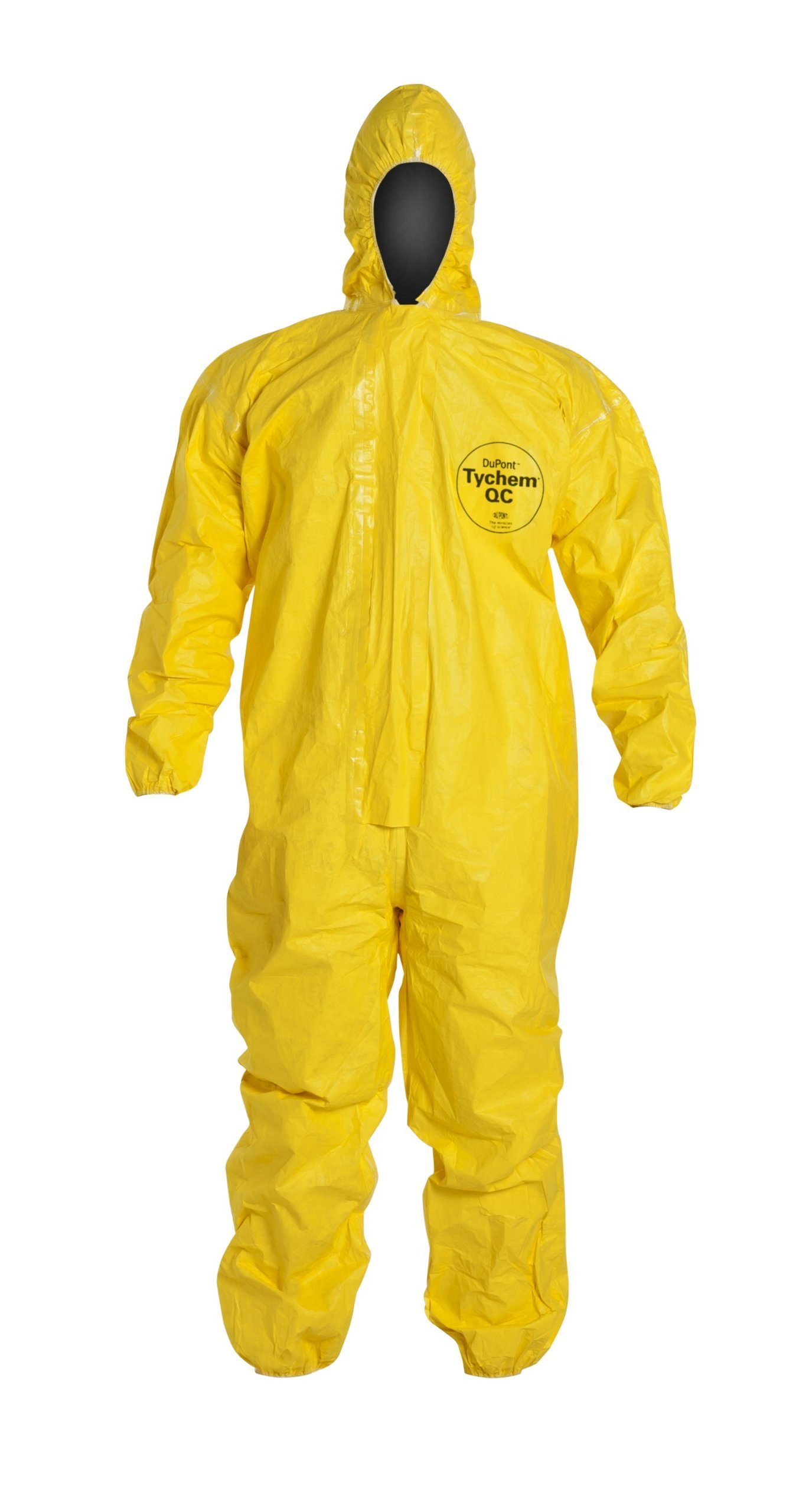 Tychem QC Chemical Protection Coveralls With Hood By Dupont, Sizes Medium To 4XL (2XL)