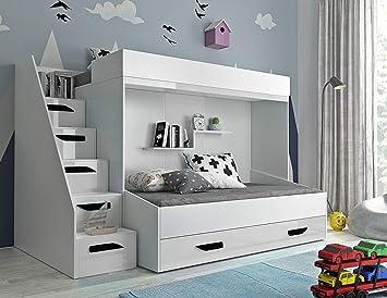 Etagenbett Bibop Erfahrung : Furnistad etagenbett alfa kinder stockbett mit treppe und