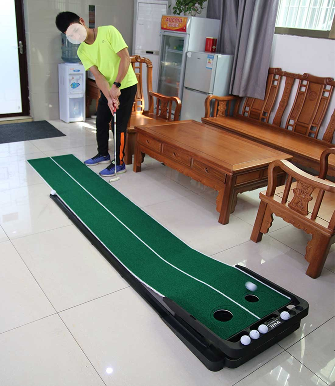 Novelty Golf Putting Trainer Indoor Golf Putting Green System----Auto Return,Extra Wide than Others,20inch Width by PGM (Image #5)
