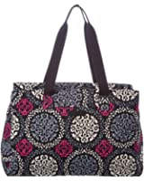 Vera Bradley Womens Triple Compartment Travel Bag