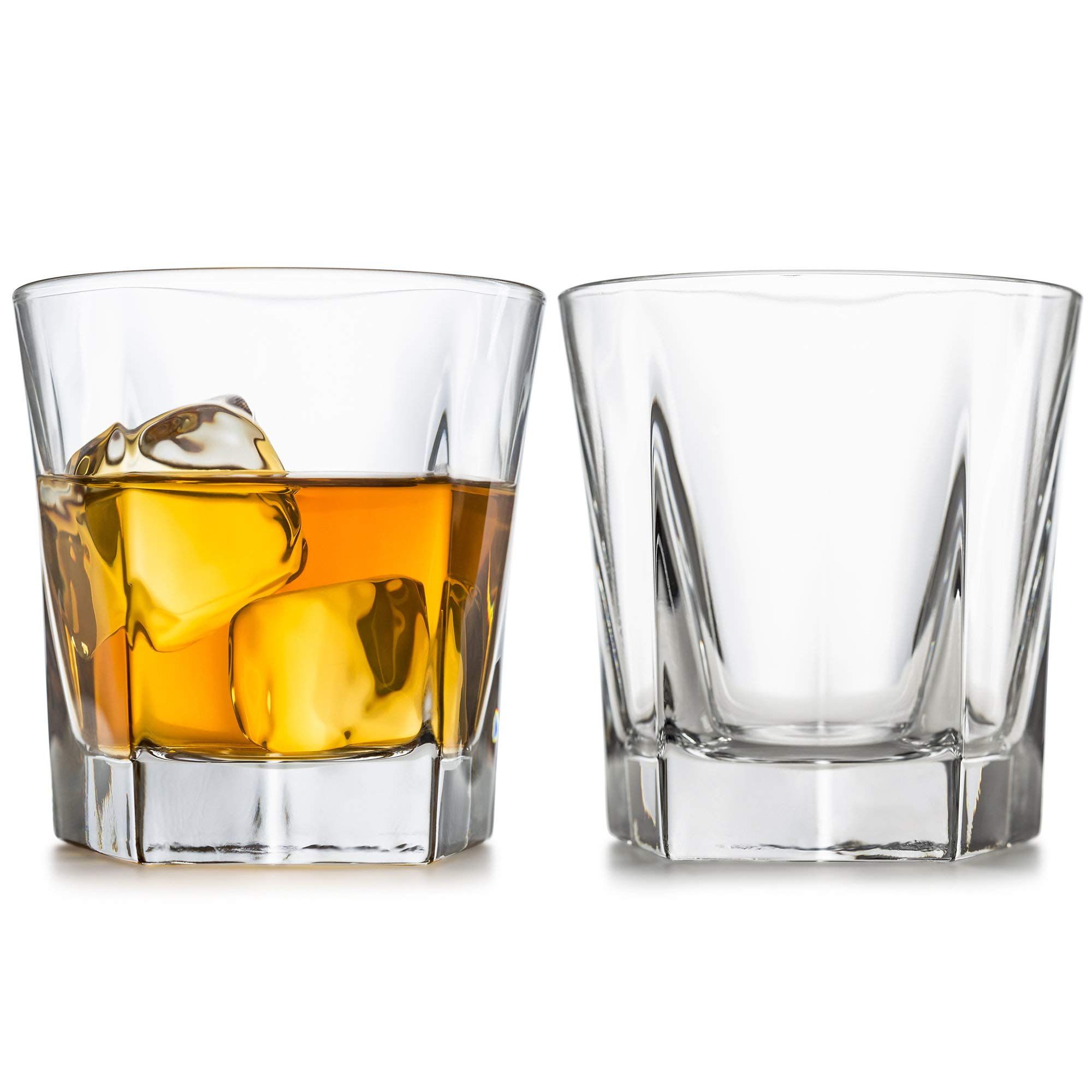 Whiskey Glasses, Set Of 2 – By Liquor Sip. Elegant Design- Large 12 oz Lead-free Tumblers- best glass cups for scotch or bourbon -10 Bonus Refreshing Cocktail Recipes enclosed in a stylish gift box by Liquor Sip (Image #6)