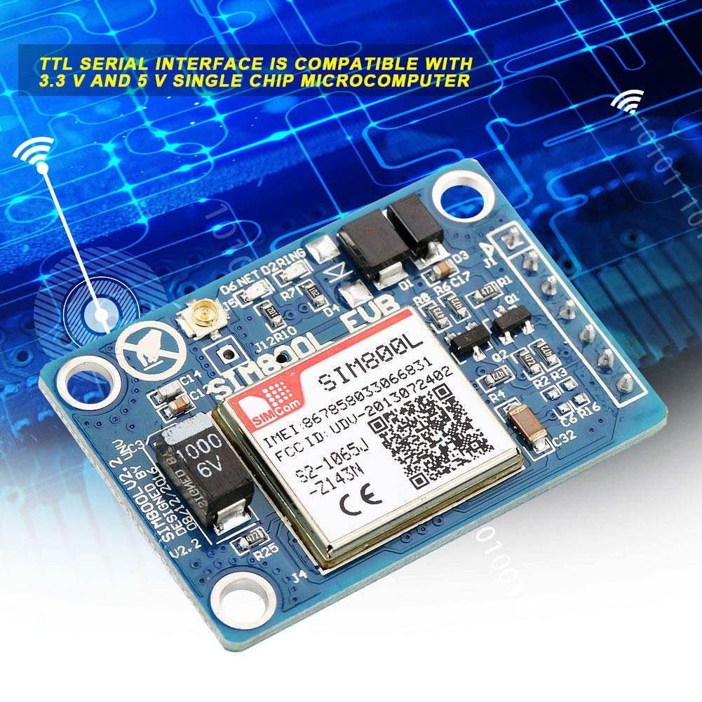 SIM800L Module 5V IPX Interface with Antenna Self ProjectileCard Slot GSM Module for All Kinds of Embedded Type