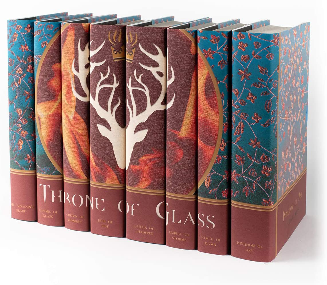 Juniper Books Throne Of Glass Custom Dust Jackets Only Eight Volume Hardcover Book Jackets Custom Designed Dust Jackets Books Not Included Author Sarah J Mass Amazon Ca Home Kitchen