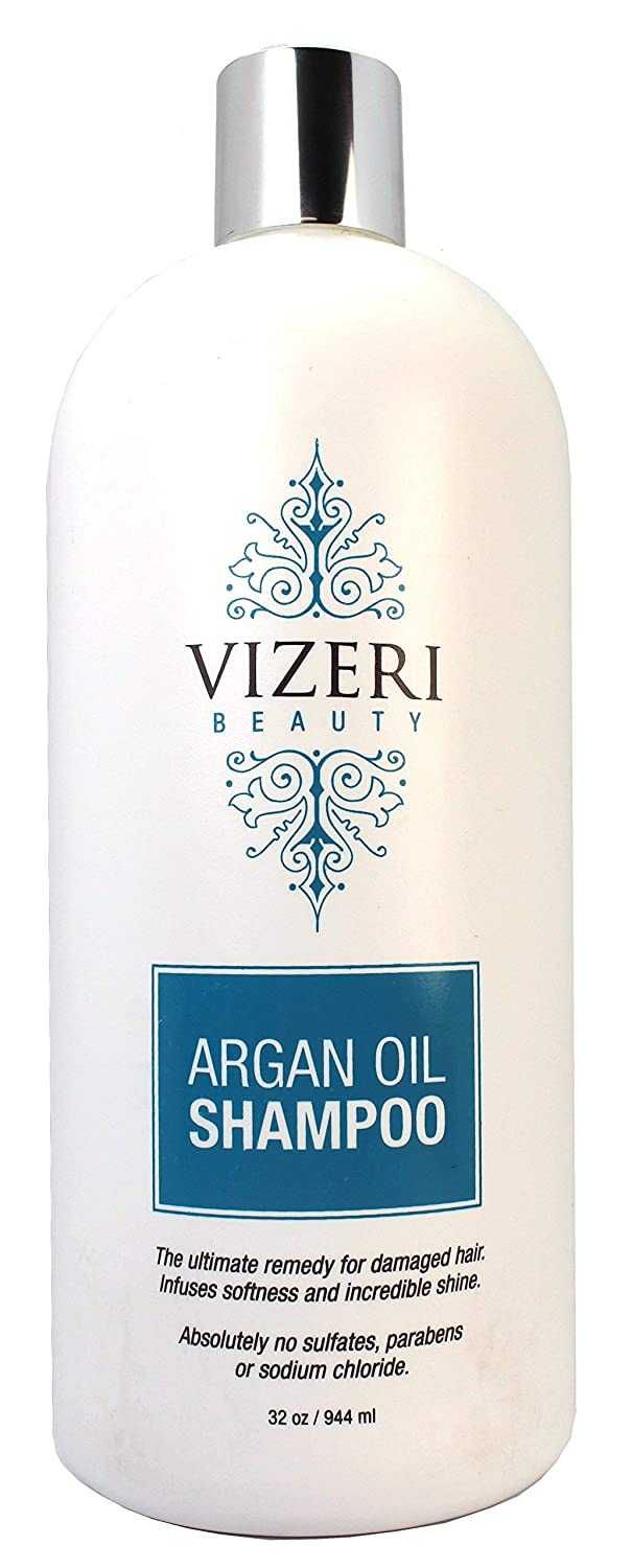 32oz Argan Oil Shampoo Treatment: Repairs Damage, Hydrates, Increases Restores Shine, Controls Frizz, and is Paraben, Sodium Chloride, and Sulfate-Free