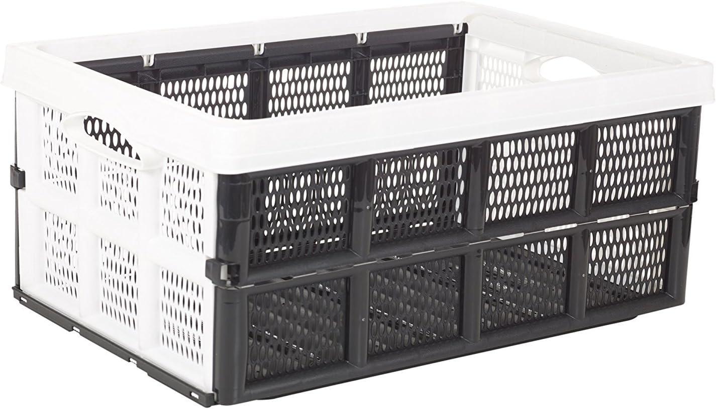 EG Homewares Plegable 31 litros Caja de plástico, Caja de Almacenamiento solución casa almacén Garaje: Amazon.es: Hogar