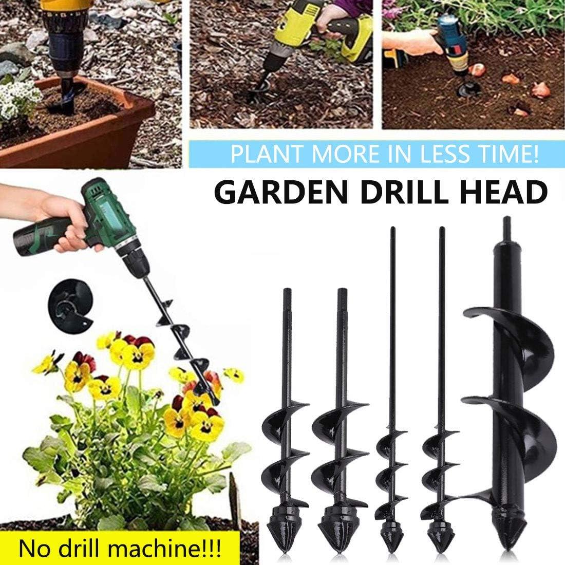Umbrella Post Hole Digger Bulb Plant Auger Garden Drill,Garden Planter Bulb Auger Drill Bit Garden Cultivator Hand Drill Digger Auger Rust-Proof Rapid Planter
