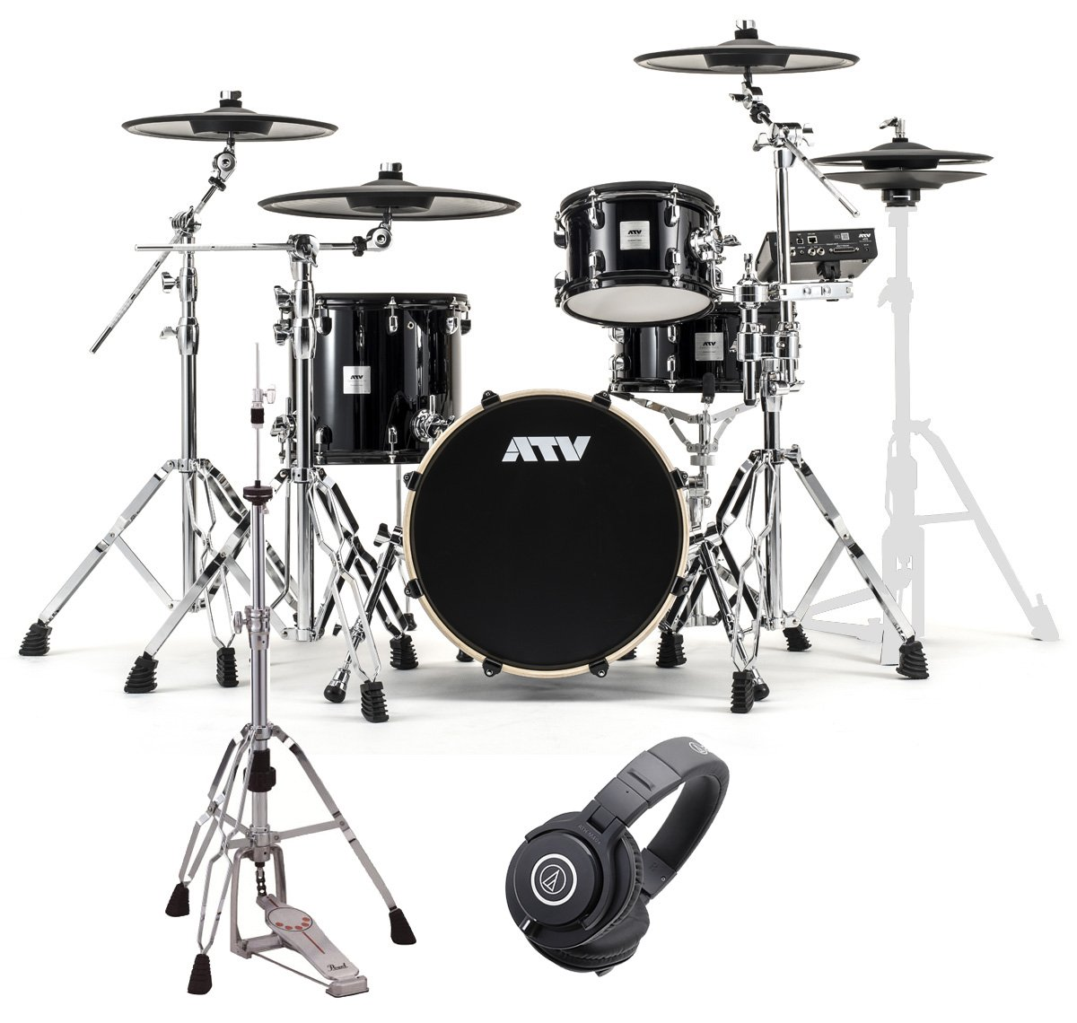 ATV aDrums artist Standard Set ADA-STDSET 3シンバルセット HHスタンドとヘッドホンM40x付き   B07DQBHJ1R