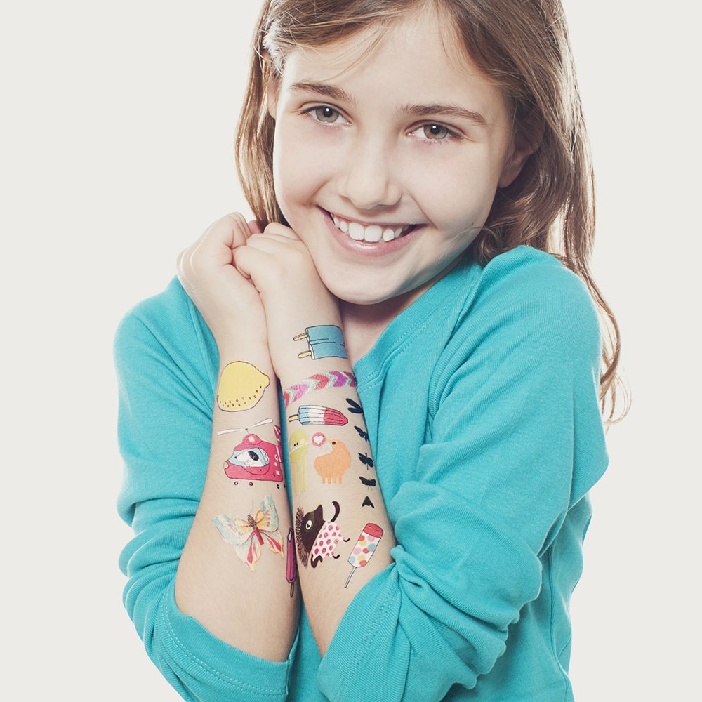 Tattly Temporary Tattoos Kids Mix Two, 1 Ounce