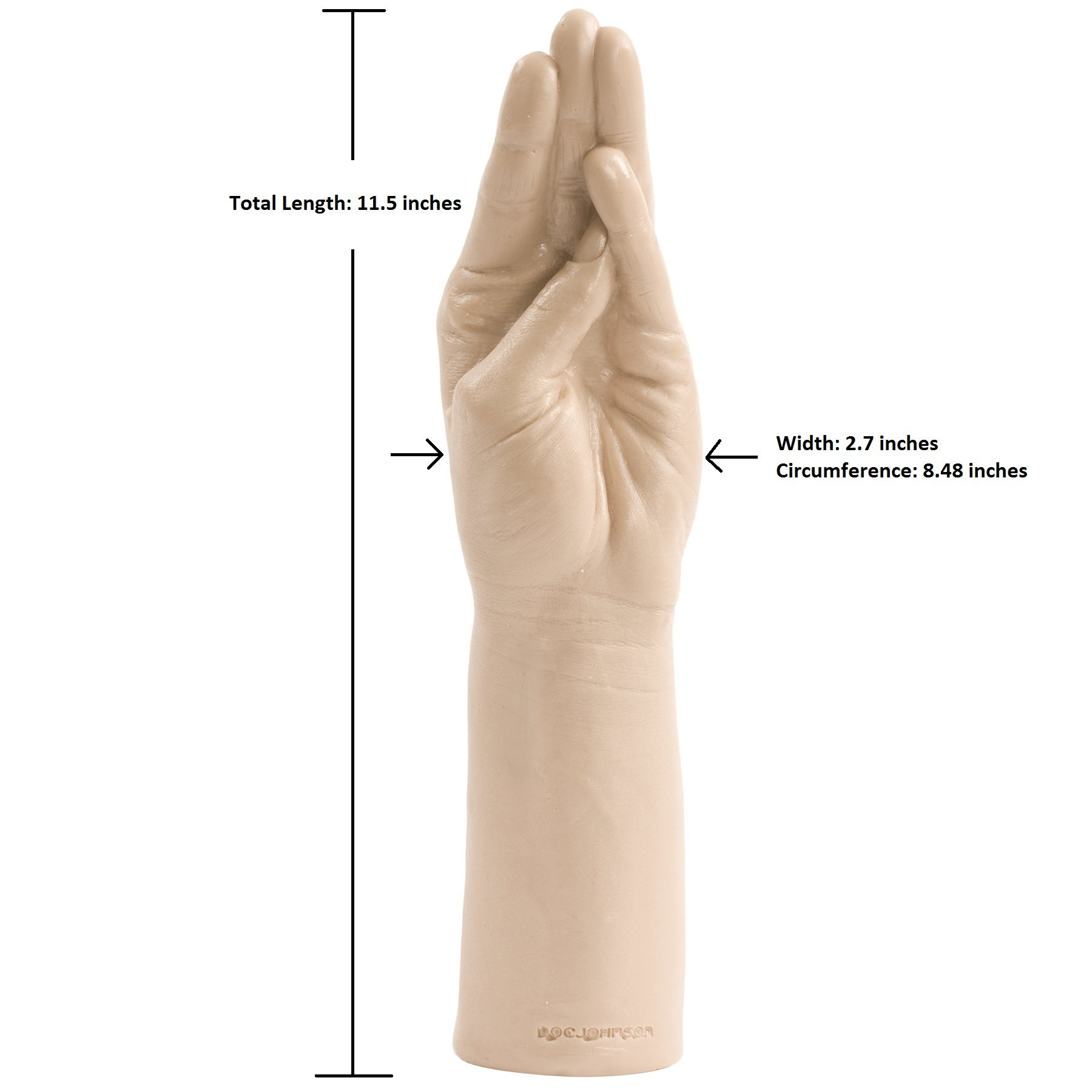 Doc Johnson Belladonna - Magic Hand - 11.5 Inch Hand and Forearm - For Vaginal or Anal Fisting - White by Doc Johnson