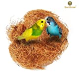 Comfortable Bird Cage Kit --- 100% Safe Material: Great for All Cage Sizes - Makes perfect resting spot - Suitable for for Hummingbird, Canary, Finch, Budgerigar, Cockatiels, African greys, Conures