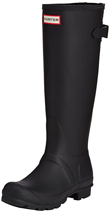 7d84d02c262f Hunter Women s Original Back Adjustable Rain Boots Black 5 M ...