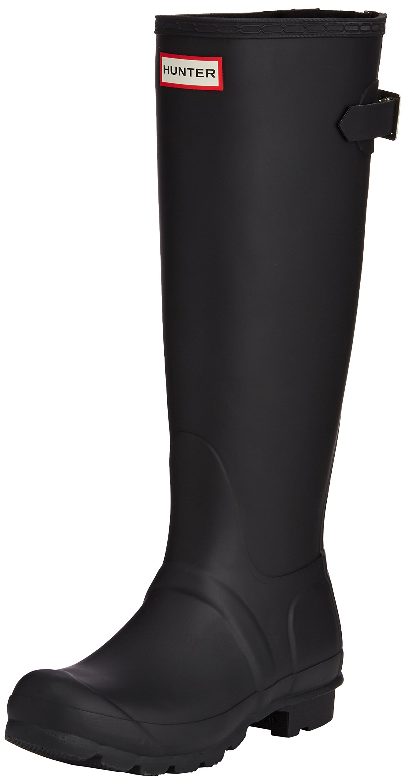 Hunter Womens Original Back Adjustable Black Rain Boot - 7 by Hunter