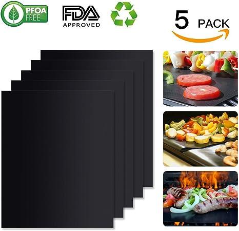 Set of 3 BBQ Grill Mat FDA Approved PFOA FREE Heavy-Duty Non-Stick Reusable