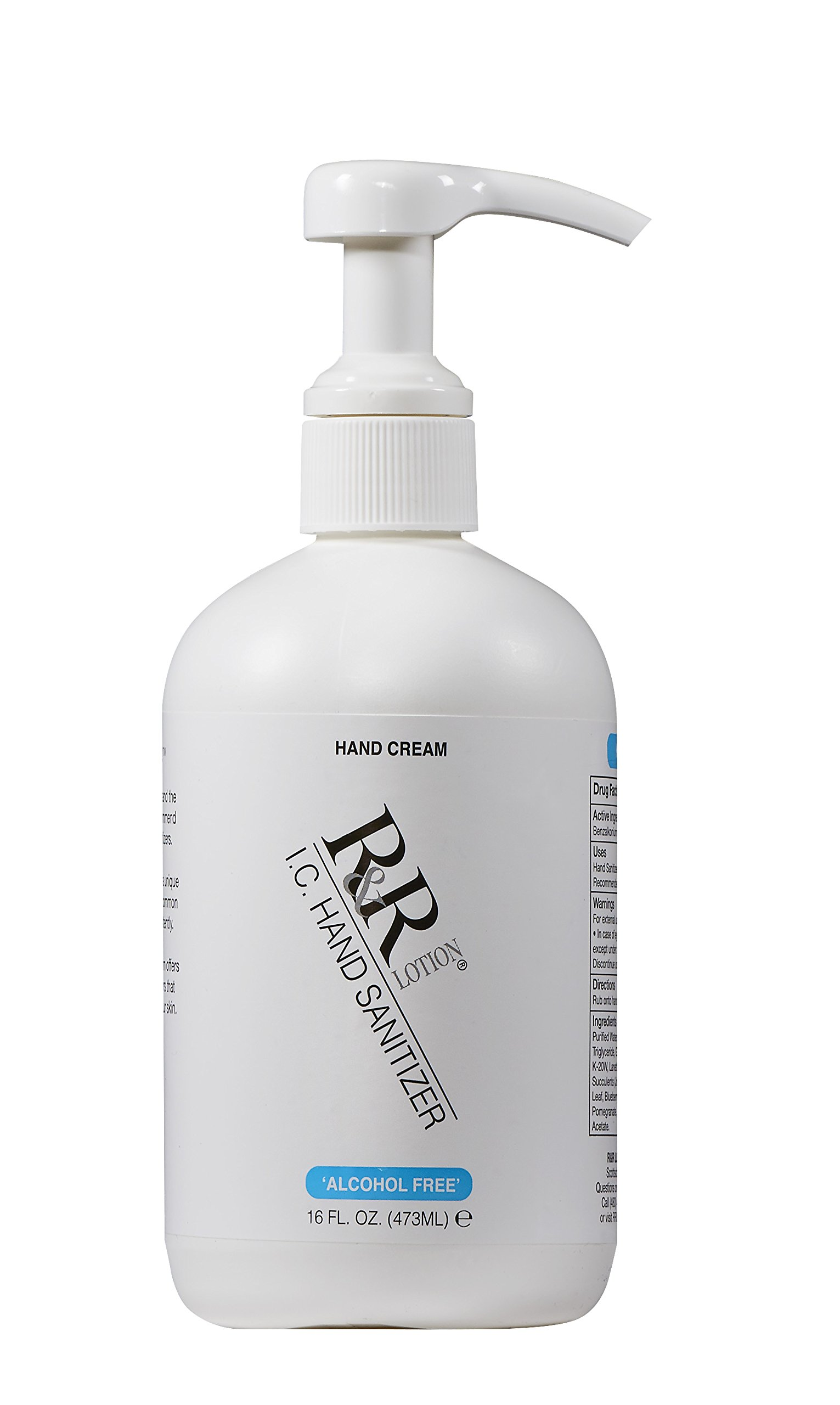 Hand Sanitizer Alcohol-Free Re-Moisturizing Cream Using BZK to Kill 99.99% of Germs Persistently. Re-moisturizes Using Sunflower & Shea Butter, 14 Botanicals and Succulents Along with VIT. 16oz by R&R Lotion