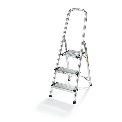 """Polder LDR-3500RM Ultralight 3-Step Stool, 52.5"""" Tall, 24.5"""" Top Step, Aluminum: Home Improvement"""
