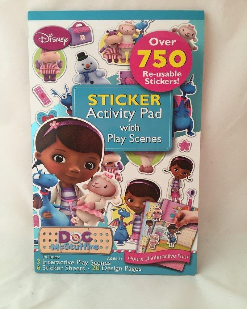 Artistic Studios Doc McStuffins Sticker Activity Pad with Play Scenes