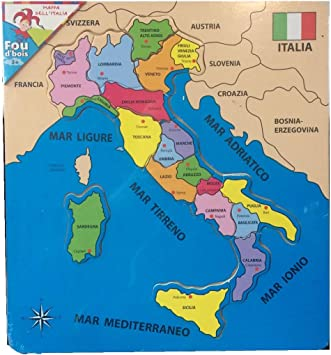 Cartina Italia Amazon.Cp Puzzle In Legno Cartina Geografica Italia In Legno Cartina Italia Didattica Amazon It Giochi E Giocattoli