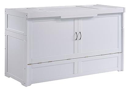 Night U0026 Day Furniture MUR CUB QEN WH COM Murphy Cube Cabinet