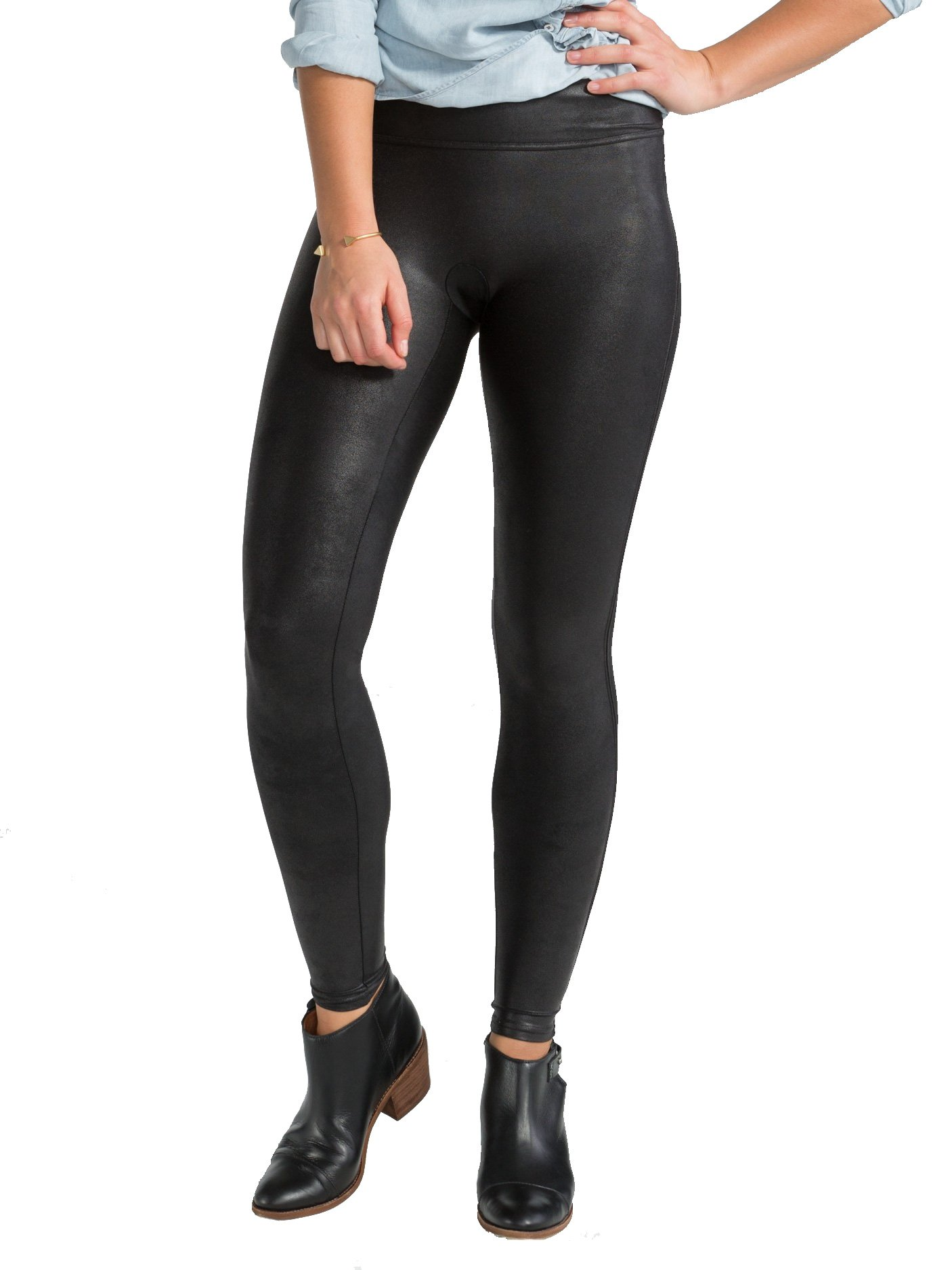 SPANX Plus Size Ready-To-Wow Faux Leather Leggings, 1X, Black