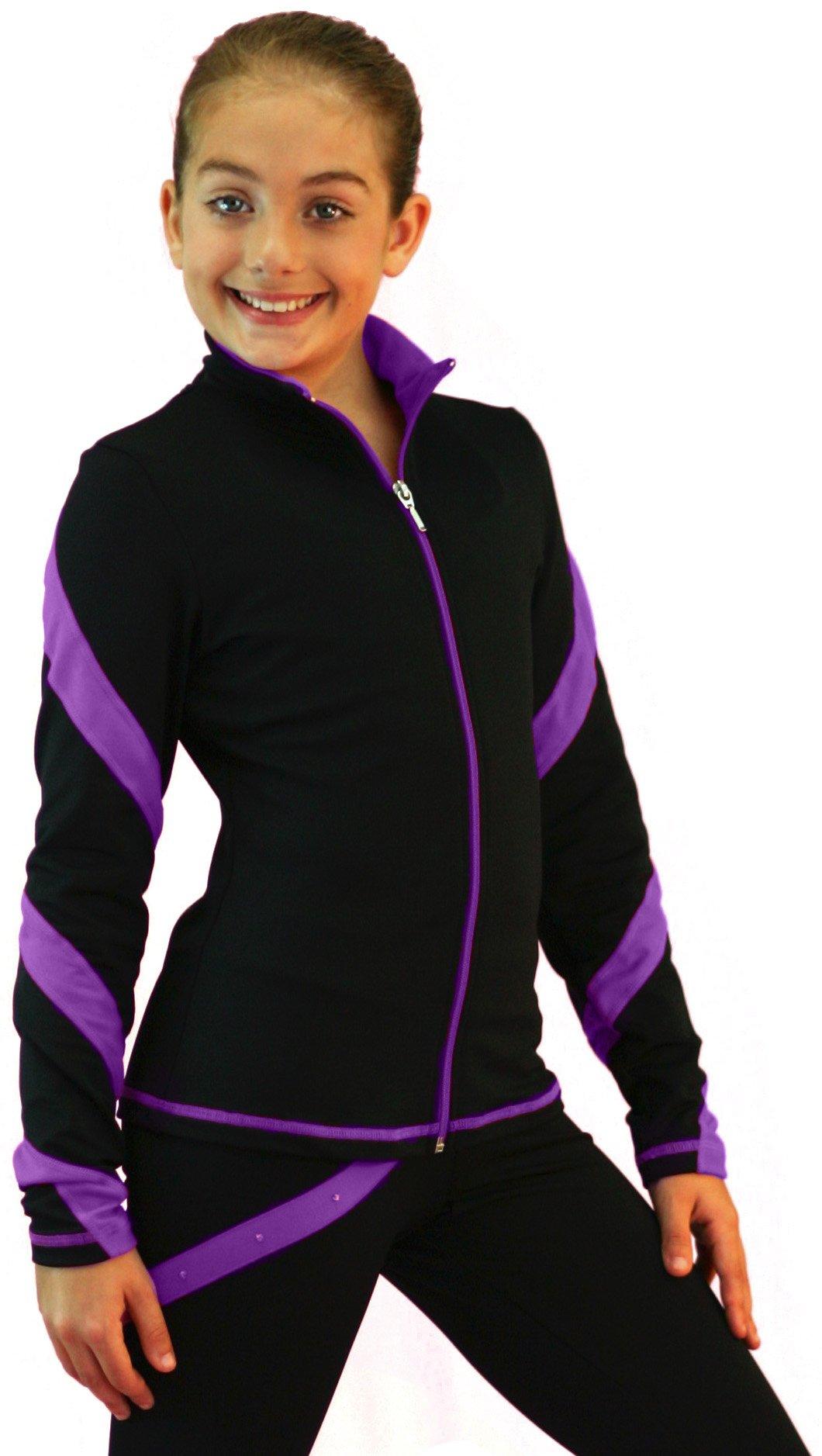 ChloeNoel J36 - Spiral Figure Skating Jacket Purple Child Large by ChloeNoel