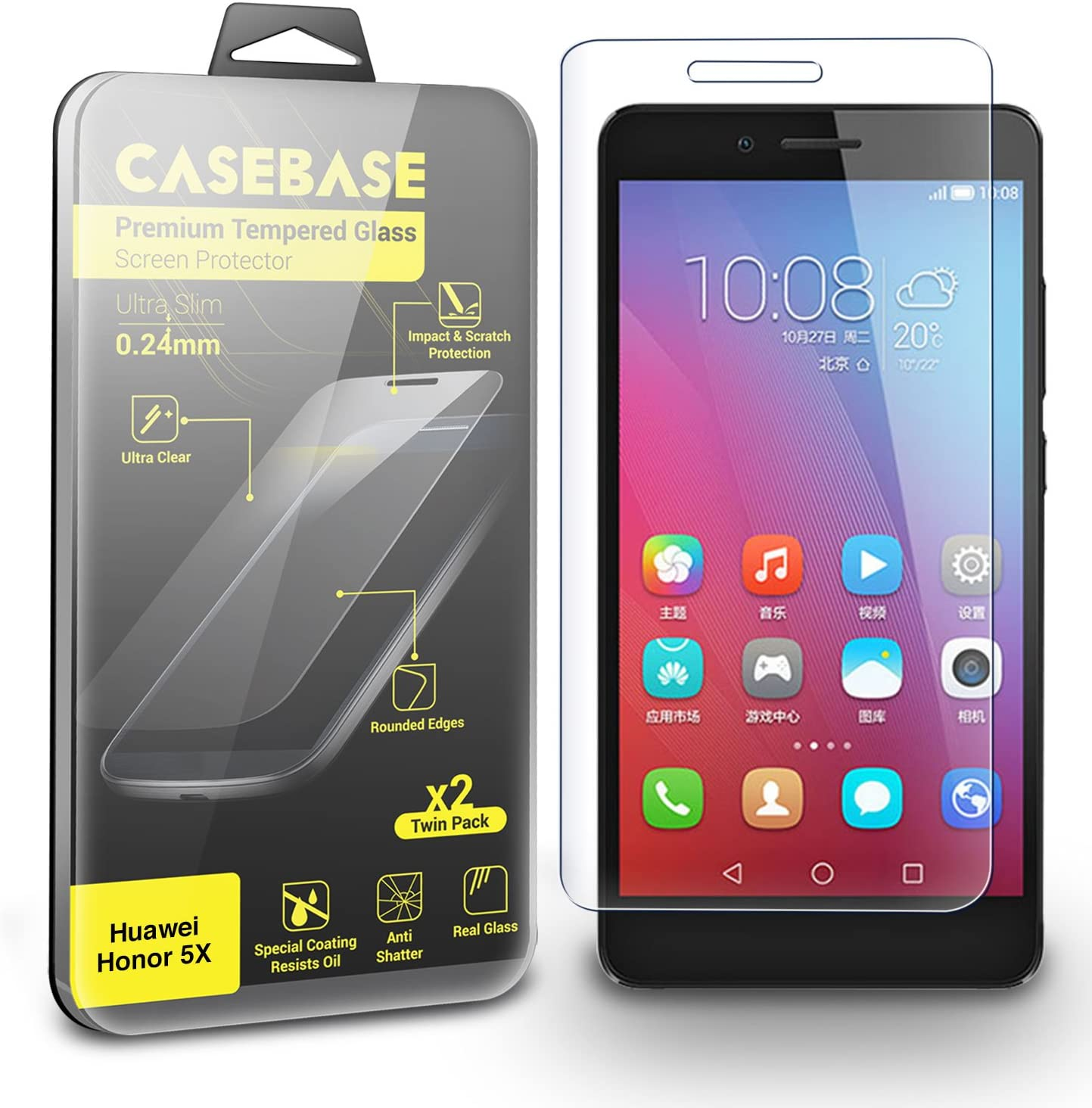 CaseBase® Premium - HUAWEI HONOR 5X: Amazon.es: Electrónica