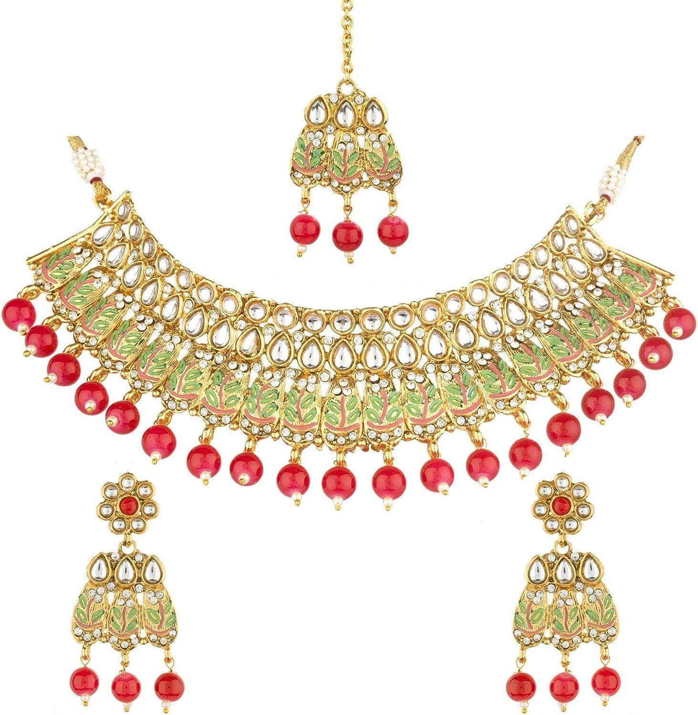 Efulgenz Indian Style Bollywood Antique Traditional 14 K Gold Plated Enamel Peacock Wedding Bridal Bracelet Bangle Set Jewelry 2 Pc