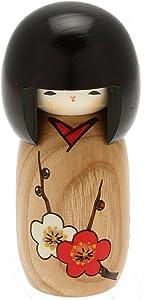 Usaburo Japanese Kokeshi Doll, Sachiko's Brown Kimono