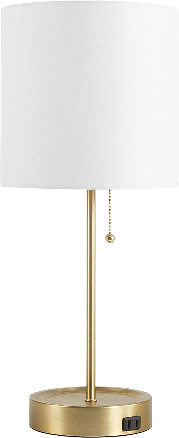 Urban Shop Stick Table Lamp with Catch-All Base, Gold
