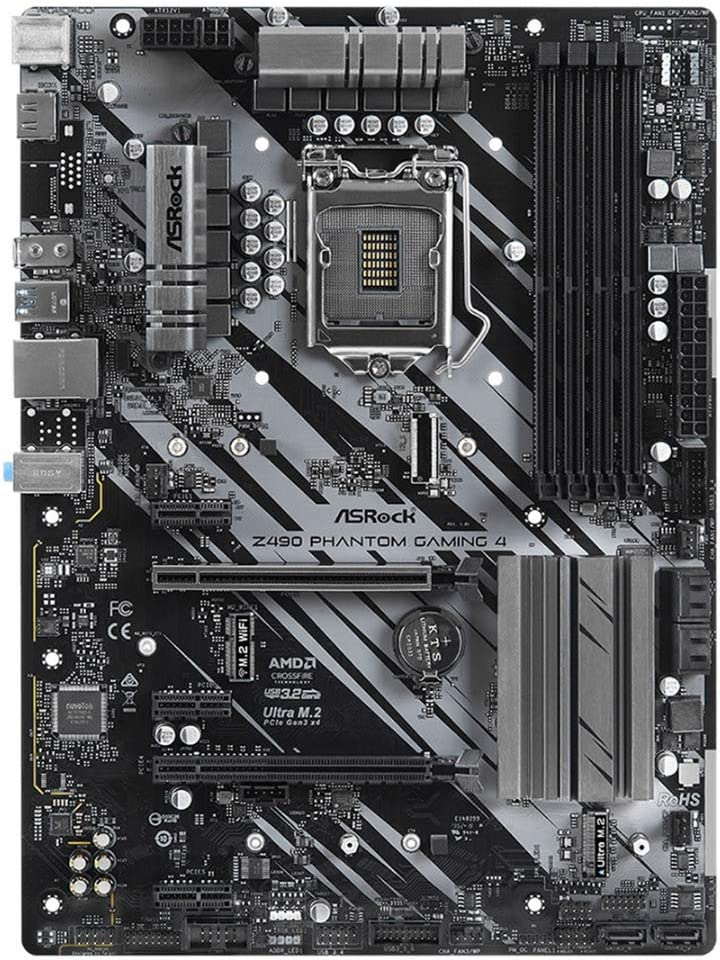 ASRock Z490 Phantom Gaming 4 Supports 10 th Gen Intel /® Core/™ Processors Socket 1200 Motherboard